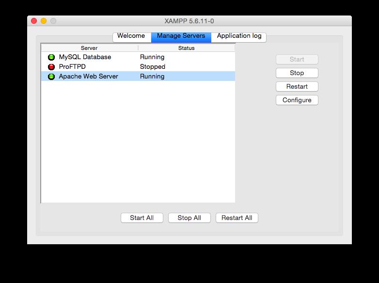 XAMPP рестарт Apache