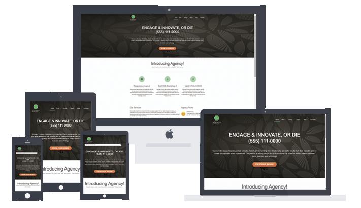 HTML5 адаптивный шаблон сайта Agency. Скачать бесплатно